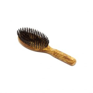 Sniff My Chin Olivewood Boar's Bristle Brush